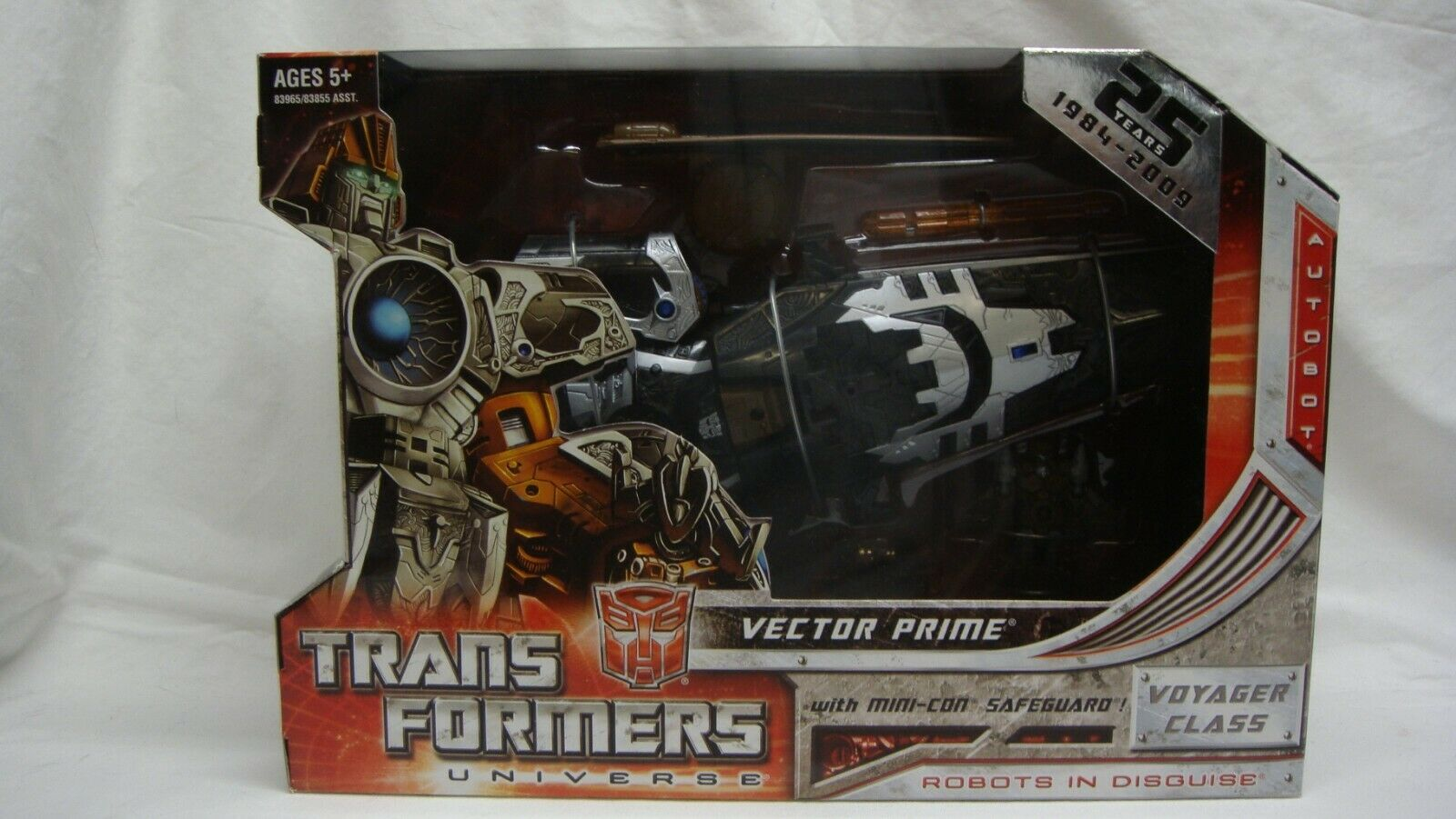 TRANSFORMERS UNIVERSE RID VECTOR PRIME 25TH ANNIVERSARY VOYAGER CLASS NEW SEALED