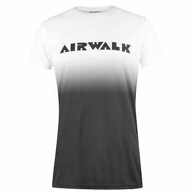 Airwalk Da Uomo Sbiadito T-shirt Girocollo Tee Top Manica Corta Stampa-mostra Il Titolo Originale