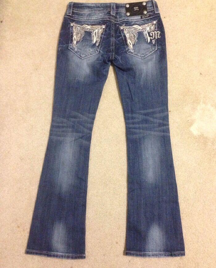 MISS ME Embellished Stiefel Jeans Sz 25