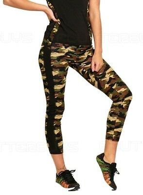 Ladies Active Wear Camouflage Leggings Gym Sport Womens Run Yoga Camo ❤
