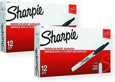 Sharpie 32701 Retractable Permanent Markers Fine Point Black 24 Count