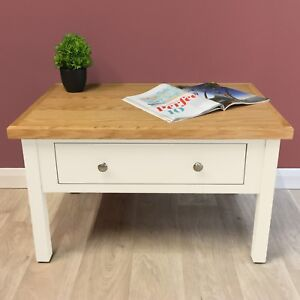 Belgravia-White-Painted-Oak-Coffee-Table-Storage-Solid-Wood-New