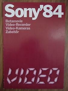 Sony-84-sehr-seltene-Raritaet-Katalog-Betamovie-Video-Zubehoer-top-Zustand