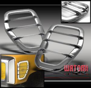 06 09 Hummer H3 Side Marker Light Covers Guard Trim Chrome