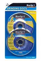 """(PACK OF 2)  BlueSpot Grinding Discs (4.5"""") metal grinder discs 115 x 6mm"""