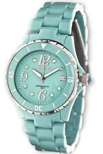 Haurex Italy Women's PT342DT1 Make UP Rotating Bezel Date Window Crystal Watch