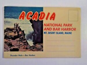 Details about Vintage Acadia Mount Desert Island Maine Color Fold Out  Souvenir Postcard TRAVEL