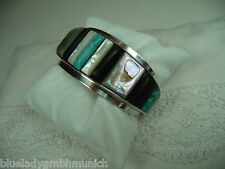 Armspange ✿ Navajo ✿ Silber Turquoise TURQUOISE Silver CUFF BRACELET Vintage