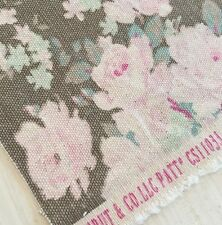 Rachel Ashwell Shabby Chic Couture Bella Mocha Canvas Fabric 14x5 3/4 Inches
