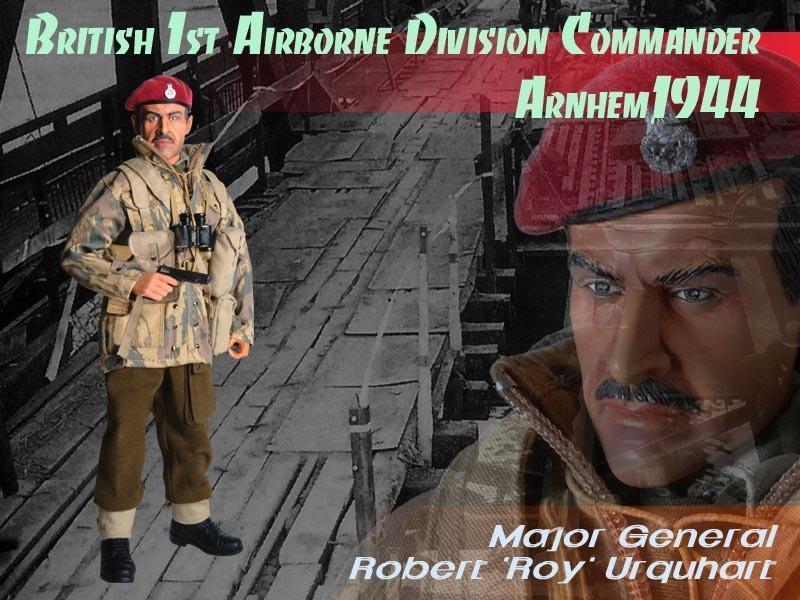 Comandante de la Primera División Aerojoransportada británica, General de División Roy Anam 1944
