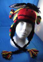 Wholesale Lot Of 12 Rasta Sock Monkey Hat Knit Winter Men Ladie Kid Reggae Warm