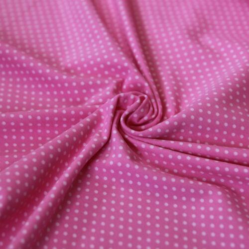 Jersey Stoff Punkte Tupfen Mini Dots Zartrosa auf Pink Gepunktet für Kinder