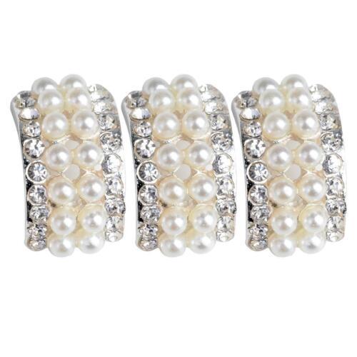 10x Rhinestone Diamante Pearl Button Flatback Embellishment DIY Sewing Craft