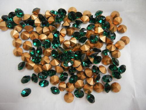 full package,144 new preciosa rhinestones,37ss Emerald color//foiled