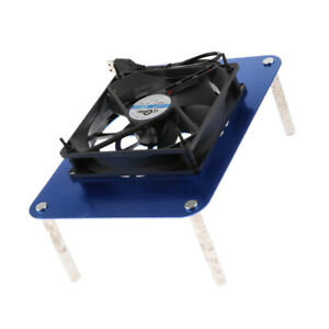 USB Powered Router Cooling Fan Silent Computer Heat Radiator 120mm, 5V Blue