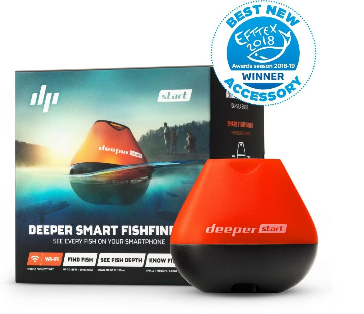 Deeper - START Sonar (Wifi) Echolot Echolot Echolot Fischfinder Orange-Schwarz BRANDNEU 726b42
