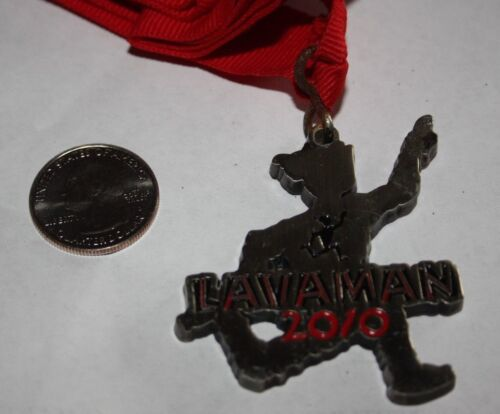 2010 LAVAMAN TRIATHLON KAILUA KONA HAWAII FINISHERS MEDAL 100% ORIGINAL