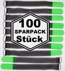 20 x Kabelklettband FK 20 cm x 20 mm neon grün Klettband Klett Kabel Binder Band