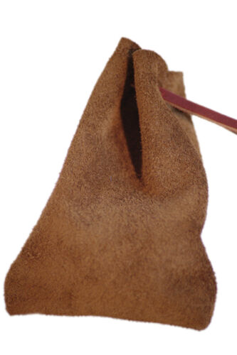 LARP-WAR GAMING/Pagan/Reenactment Chocolate Suede Money-Dice Bag Pouch
