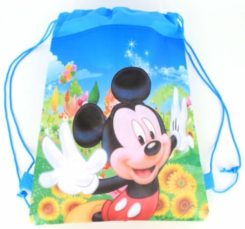 Mickey Mouse Minnie Drawstring Backpack Girl/'s School Sling Tote Gym Bag