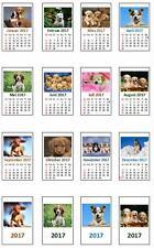 2217# Miniatur Kalender 2017 fertig montiert - Motiv Hunde - Puppenhaus - M1zu12