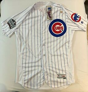 info for 48dfa 3a00e Details about Authentic Chicago Cubs Javier Baez Flex Base Jersey 44 2016  World Series - RARE