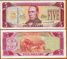 Liberia / Africa, 5 dollars, 2003, P-26, UNC