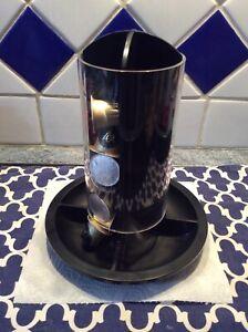 TOTEM toupie NESPRESSO NOIR porte capsules, tube translucide, 4 variétés/cafés.