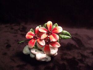 Vintage-Metal-Enamel-3-1-4-034-Red-Poinsettia-Flower-Pin-Brooch