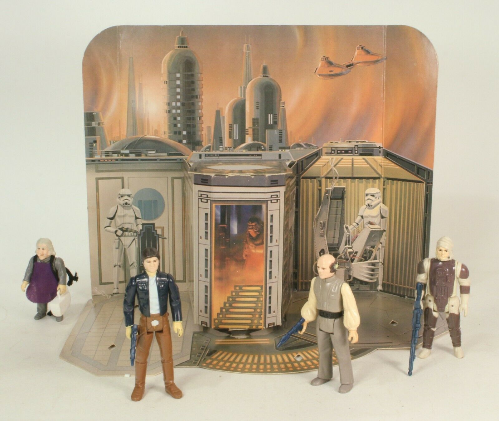 Vintage Rare  Star Wars Sears Cloud City Play Set Set Set With Figures No Box or Pegs a95865