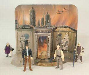 Ensemble de jeu Vintage Star Wars Sears Cloud City rare avec chiffres, pas de boîte ni de chevilles
