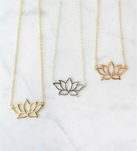 Unique-Lotus-Flower-Charm-Necklace-Pendant-Collares-Beautiful-Jewelry-Women-Gift