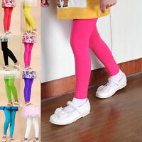 Baby Girls Full Length Plain Basic Short Slim Fit Leggings Stretch Dance Pants