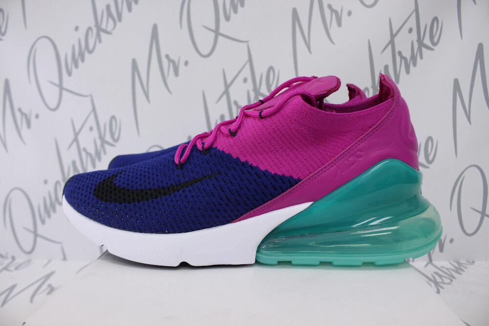 NIKE 270 AIR MAX 270 NIKE FLYKNIT SZ 12 DEEP ROYAL Bleu Noir FUCHSIA FLASH AO1023 401 b717b8