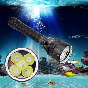 20000lm-XM-L-5-del-sous-l-039-eau-100m-Plongee-Lampe-Torche-Impermeable