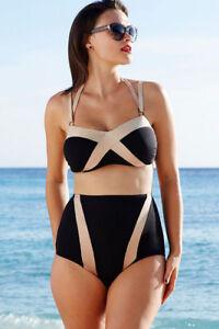 Costume Da Bagno Bikini Vita alta Taglie forti Grandi Curvy Plus ...