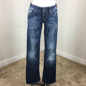 Excellent Cut détresse en Jeans Miss 28 Boot Poche ornée Me zw4aqH