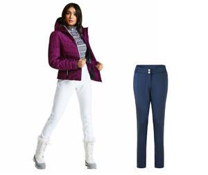 Dare2b-Shapely-Women-039-s-Skinny-Stretch-Softshell-Winter-Ski-Trousers-Blue-18