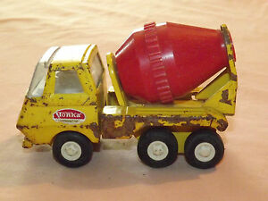 Vintage Toy Truck 1960 70s Tonka Mini Yellow Red Metal Cement Truck