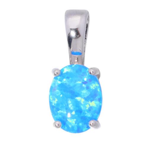 Blue White Fire Opal 925 Sterling Silver for Women Jewelry Gem Pendant SP009-10