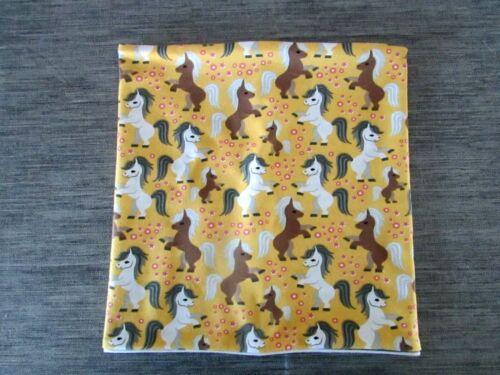 Wende Schlauchschal mit Pferde auf gelb Gr 104-110-116// 51-53cm Neu Handmade