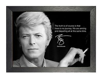 David Bowie 13 Photo Pop Singer Legend Quote Picture Vintage Music Poster