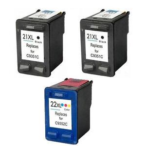 3-cartucho-gen-impresora-21-22-Deskjet-f370-f350-f2212-f375-f380-f385-HQ-PREMIUM