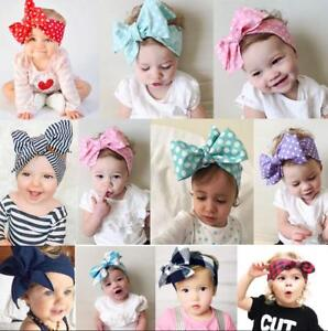 3Pcs Kids Girl Baby Headband Toddler Bow Flower Infant Hair Band Accessories Lot