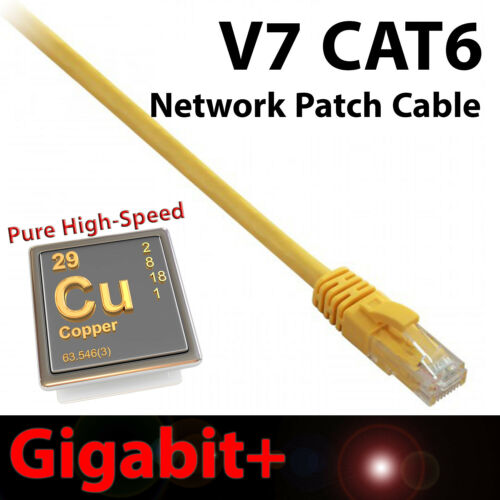 Snagless Design RJ45 V7 14ft Yellow CAT6 Network Cable Ethernet Patch Gigabit