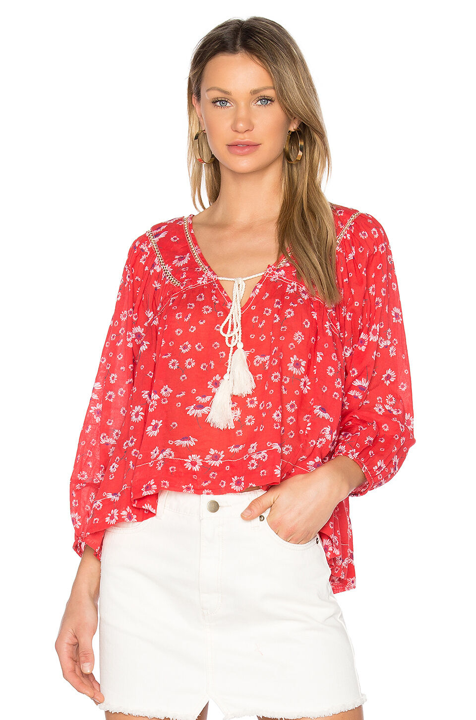 NWT Free people Never a Dull Moment Blouse Retail