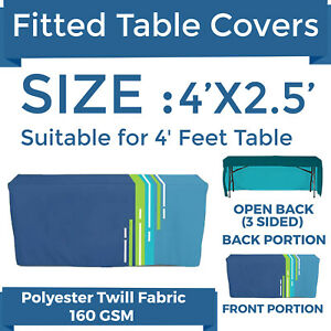 Details About 4ft Custom Print Ed Polyester Table Cover 3 Sided Tablecloth For Trade Show