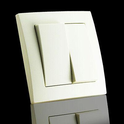 Steckdosen, Ausschalter, Wechselschalter, Glas Rahmen, Steckdose, Dimmer, Taster