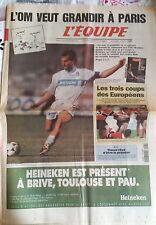 L'Equipe Journal 8-9/11/1997; OM-PSG/ 1/4 de finales coupe d'Europe de Rugby/