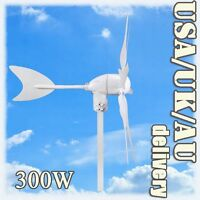 12/24V VOLT OPTION 6 BLADES WIND TURBINE GENERATOR KIT 300W ELECTRICITY